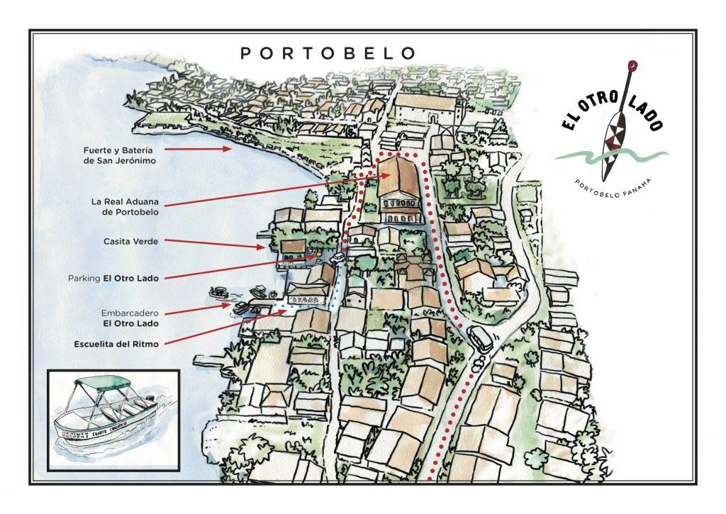 Mapa de Portobelo Panamá