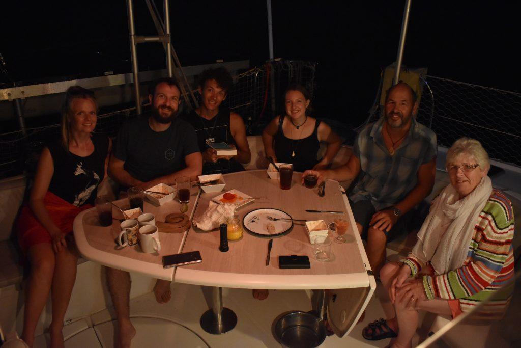 Cena en el Canal de Panamá